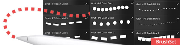 Dashes and Dots Procreate Brushes
